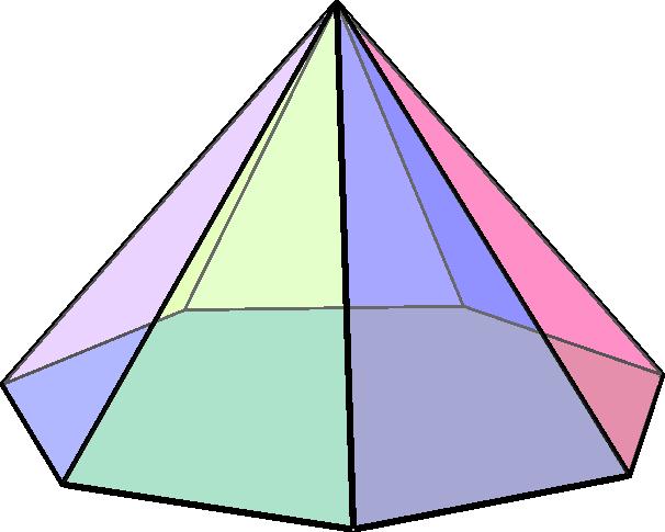 Heptagonal pyramid1