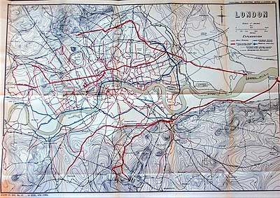 map of the london sewerage system from 1882