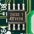 Hewlett-Packard DeskJet 710C - controller board - STMicroelectronis 24C02-7811.jpg
