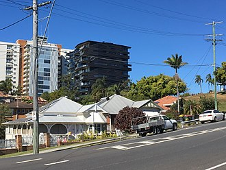 Highgate Hill, Queensland - Highgate Hill, a mix of old and new, 2017