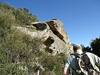 Hiker ascending at Castle Rock State Park.jpg