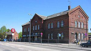 Hillerød station - Front facade of Hillerød station
