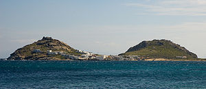 "Breast-shaped hill - The ""Breasts of Aphrodite"" in Mykonos, Greece."
