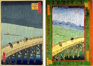 Langlois Bridge at Arles - Image: Hiroshige Van Gogh 2