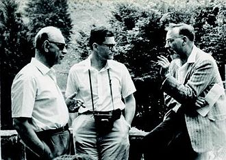 R. H. Bruck - Bruck (right) with Karl W. Gruenberg (center) and Kurt Hirsch