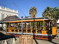 Historical tramway at Market Square Kimberley.jpeg