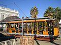 Historical tramway at Market Square Kimberley.jpeg