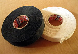 Ice hockey stick - Black and white tapes.