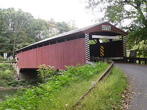 Hollingshead Covered Bridge No. 40 - The bridge in September 2012