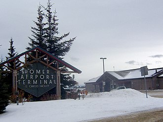Homer Airport - Main terminal on FAA road