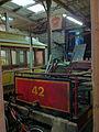 Horse tram 42 in the depot at Derby Castle.jpg