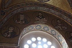 Hosios Loukas (narthex) - West wall, central 01.jpg