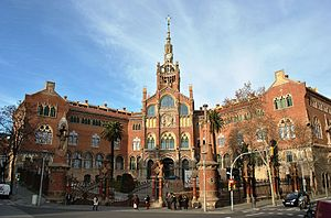Hospital de Sant Pau - Facade of the hospital