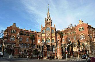Hospital de Sant Pau - Facade of the hospital