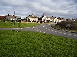 A6121 road - Junction with the B1176 in Ryhall