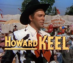 Howard Keel i Annie Get Your Gun (1950).