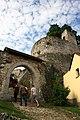 Hrad Rabí s hradním kostelem Nejsvětější Trojice, část stojící, část zřícenina a archeologické stopy (Rabí) (2).jpg