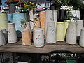 Hrnčířské trhy Beroun 2011, vázy z Německa (Liebmann Keramik).JPG