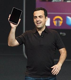 Nexus 7 (2012) - Image: Hugo Barra unveiling the Nexus 7