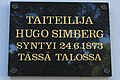 Hugo Simberg birth home plaque Hamina.jpg