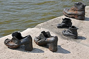 Arrow Cross Party - Image: Hungary 0042 Shoes on the Danube my thoughts.... (7263567112)