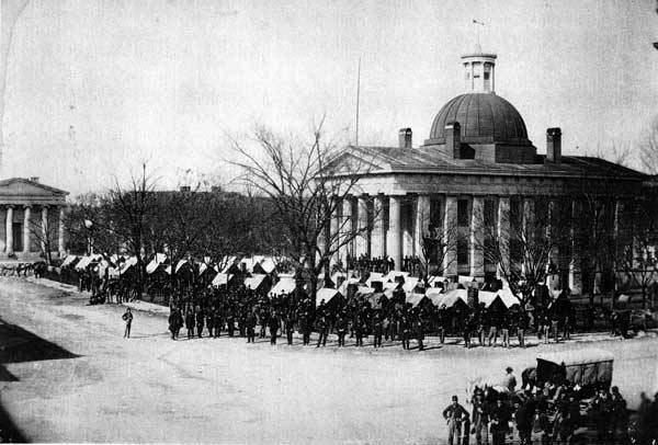 Huntsville Courthouse Square 1864
