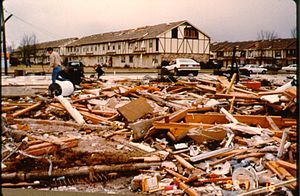 November 1989 tornado outbreak - The strong F4 tornado struck Huntsville, Alabama on November 15, 1989, killing 21 people and injuring nearly 500