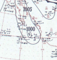 Hurricane Four analysis 4 Oct 1953.png