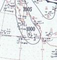 Hurricane Four analysis 4 Oct 1953.png