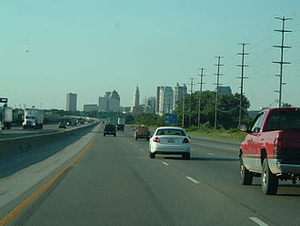 Interstate 71 - Heading northbound into Columbus