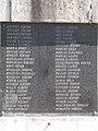 I. világháborús emlékmű, névsor A-H, 2019 Tapolca.jpg