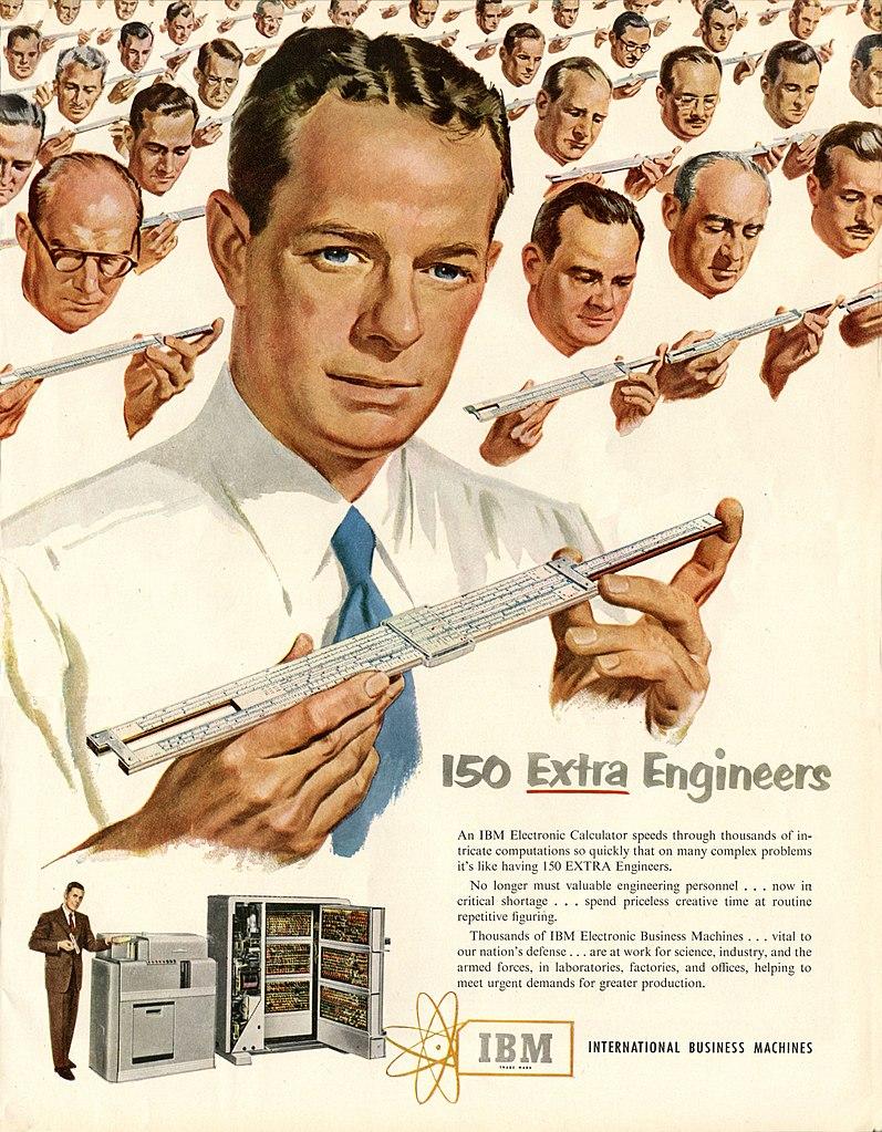 Anzeige von IBM - 1951