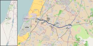 Highway 7 (Israel) - Image: I Lroute 7