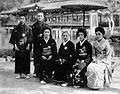INOUE Yachiyo(3rd) and KANZE Sakon and KATAYAMA Hiromichi 1920s.jpg