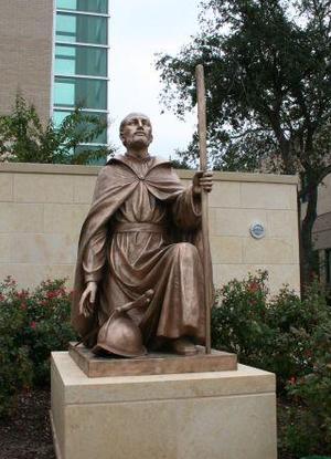 Strake Jesuit College Preparatory - St. Ignatius statue at Strake