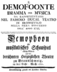 Ignazio Fiorillo - Demofoonte - titlepage of the libretto - Braunschweig 1750.png