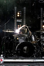 Ilan Rubin, w Nine Inch Nails, Santa Barbara, 2009.jpg
