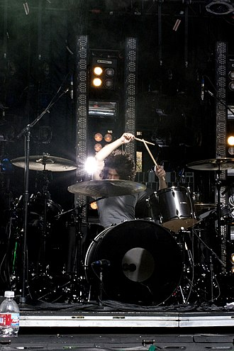 Ilan Rubin - Rubin performs with Nine Inch Nails in Santa Barbara, California, 2009