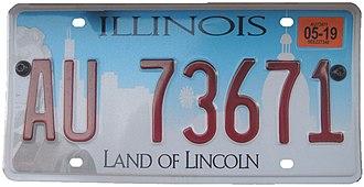 Vehicle registration plates of Illinois - Current Illinois license plate
