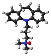 Ball-and-stick model of the imipraminoxide molecule