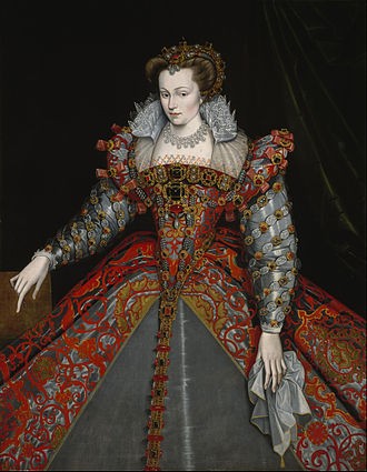 Louise of Lorraine - Portrait in the manner of François Clouet, 1575