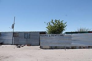 Flexible Land Tenure System (Namibia) - Image: Informal settlement in Oshakati Namibia 4