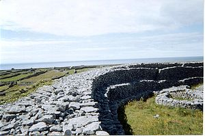 Stone ringfort on the island of Inishmaan, Ara...