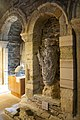 Iona Abbey - interior, view of sculpture of St Columba.jpg