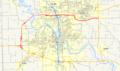 Iowa 100 map.png