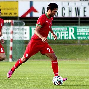 Masoud Shojaei - Shojaei playing for Iran in May 2014