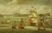 Isaac Sailmaker - A Ship Flying the Royal Standard with other Vessels off Dover.jpg