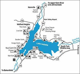 Isabella Dam - Isabella Recreation Sites
