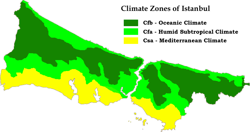 Istanbul K%C3%B6ppen Map
