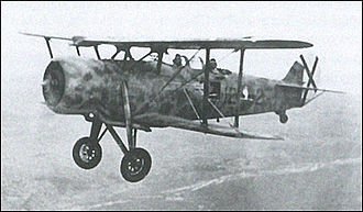 Italian conquest of British Somaliland - Image: Italian IMAM Ro.37 reconnaissance aircraft in flight